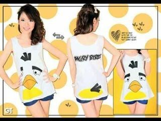 CT124WT-030, TANK TOP ANGRY BIRD WHITE