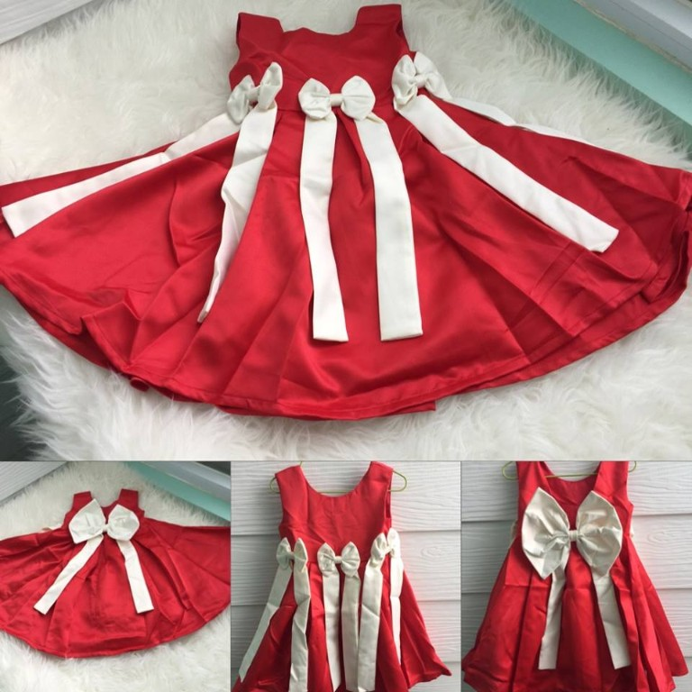 BP81-105, DRESS AMBER RIBBON red