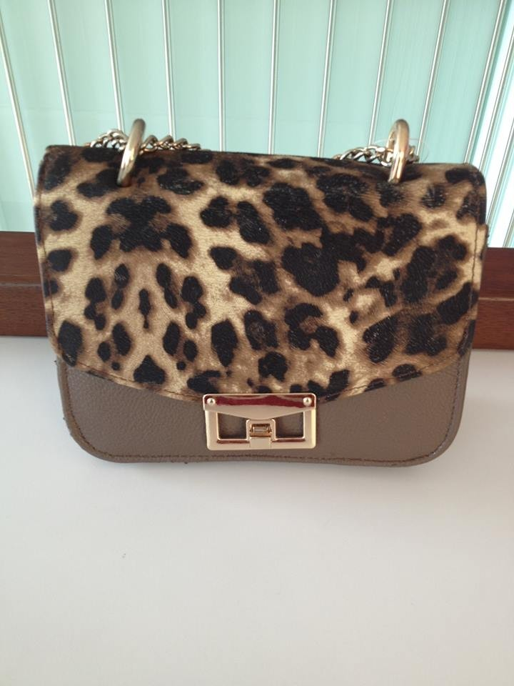 CB37-85, CUTE LEATHER BAG BROWN