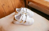 CSNV030-065,SPORT SHOES GOLD WHITE SIZE 26-30