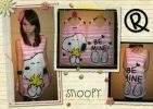 CTMO007-030, TANK TOP STRIPPED SNOOPY PINK