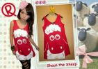 CTMO008-030, TANK TOP SHAUN RED