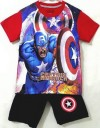 LBS199-032. TOP CAPTAIN AMERICA + PANTS BLACK