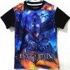 CTB026-19,BATMAN BLACK BLUE TEE