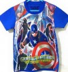 CTB027-19,CAPTAIN AMERICA BLUE TEE
