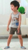 GW18D-40 MONKEY WITH HEADPHONE , SHORT TOP + SHORTY PANTS