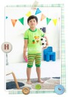 GW100H-52, TOP + PANTS BEAR GREEN