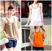 MOM22-49,, TANK TOP MONTE LEHER ORANGE