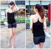 MOM22-49, TANK TOP MONTE LEHER BLACK