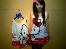 MOM85-30,HELLO KITTY UCANSEE POLKA WHITE
