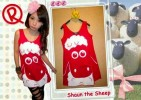 MOM88-30,SHAUN THE SHEEP TEE RED