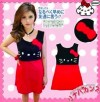 MOM38-058 DRESS KITTY RED BLACK FOR