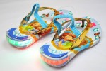 SDL017BU-031 SLIPPER SOFIA GOLD BLUE + STRAP (WITH LAMPS)