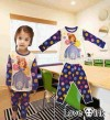 E3 CT 164 ,SOPHIA FLOWER PURPLE PAJAMAS PURPLE