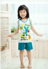 GW18I-40, BLUE DONKEY , SHORT TOP + SHORTY PANTS
