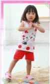 GW18H-40, CAT POLKA RED , SHORT TOP + SHORTY PANTS