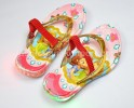 SDL017RE-031 SLIPPER SOFIA GOLD RED + STRAP (WITH LAMPS)