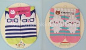 SOC123A-11 SOCK  CAT BLUE STRIPPE size : all size (4 - 9 thn)
