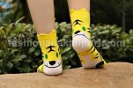 SOC130-013,TIGER YELLOW SOCK all size (4-9th)