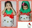 Ct 43-037,hello kitty hoddy green red hoddy Kids