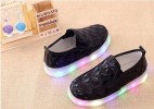 BOS276BL-64 SHOES LAMP MOTIF KOTAK BLINK BLACK  SIZE: 26-30 (15)