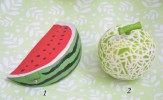SQUISHY GREEN MELON - PICT 2 (1) DIAMETER : 9,5 CM