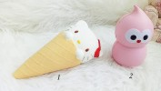 SQUISHY KITTY CONE - PICT 1 (3) SIZE: 19,5 CM X 9 CM